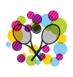 ball and racket icon Tennis design vector image