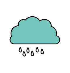 color cloud rainning icon vector image