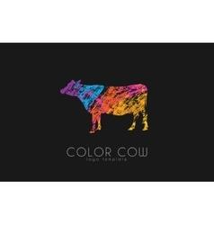 Cow logo color cow creative logo cow design vector