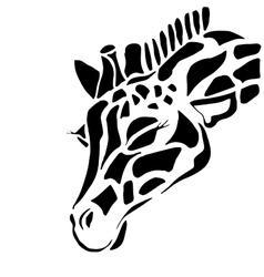 Cute giraffe tattoo for coloring vector