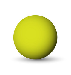 green sphere ball or orb 3d object with vector image vector image