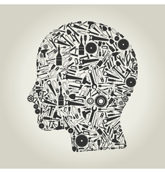 Head the tool vector image