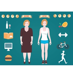 Infographic of fitness and sport vector image vector image