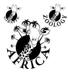 logos with the image of a giraffe vector image