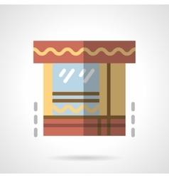 Market flat color icon vector image