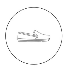 Moccasin icon in outline style isolated on white vector