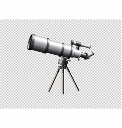 modern telescope on transparent background vector image vector image