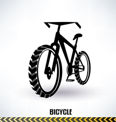 mountain bike symbol vector image vector image