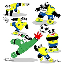 Panda soccer brasil all action2 vector