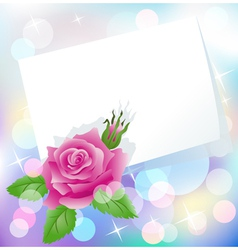 Rose and paper vector image vector image