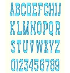 Serif font blue vector