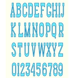 Serif font blue vector image