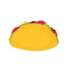 tasty taco flat cartoon character vector image