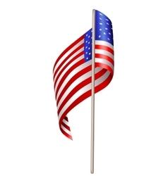 US waving flag vector image