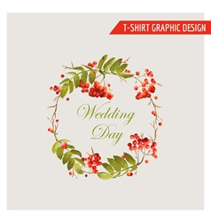 Vintage Autumn Floral Graphic Design - for Card vector image vector image
