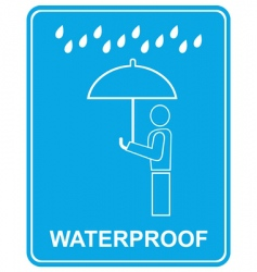 Waterproof sign vector