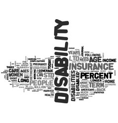 why disability insurance is so important text vector image vector image