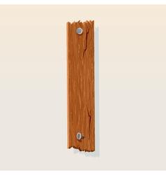 wooden letter i vector image vector image