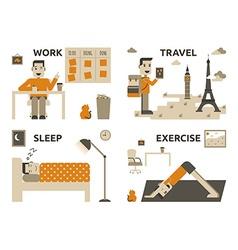 Work life balance vector