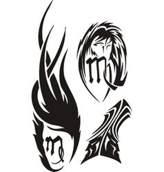 Zodiac Signs - maiden Vinyl-ready set vector image