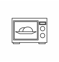 Microwave oven icon outline style vector image