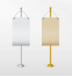 Blank banner flag for designers vector image