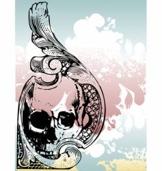money grunge skull vector image