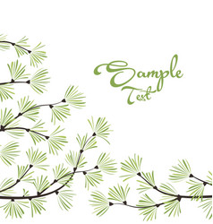 Decoration of pine branches vector