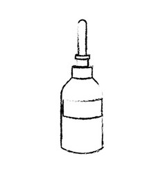 Dropper bottle medical liquid care icon vector
