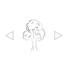 Tree icon sketchy style vector