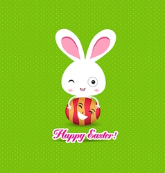 Happy easter eggs and bunny funny vector