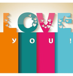 Love happy valentines day card vector