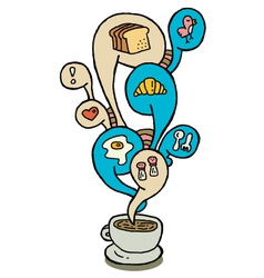 Coffeecup series breakfast vector