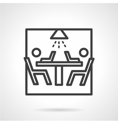Black line icon for teamwork vector