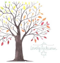 Lovely autunm tree 1 vector