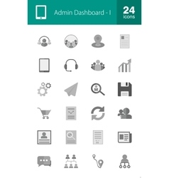 Admin dashboard vector