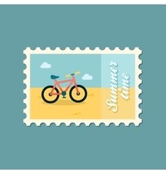 Bicycle flat stamp vector