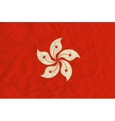 Hong kong paper flag vector