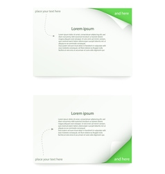 Paper card vector