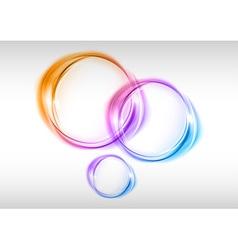 abstract small circles var vector image vector image
