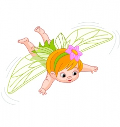 baby fairy in flight vector image