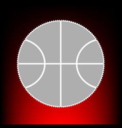 basketball ball sign postage stamp vector image