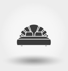 double bed icon vector image