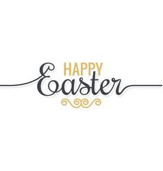 Easter background vintage lettering on white vector