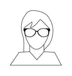 Faceless woman portrait icon image vector