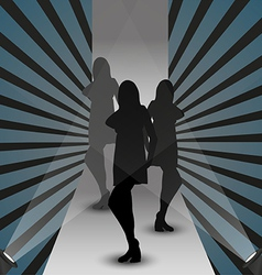 fashion show silhouette vector image vector image