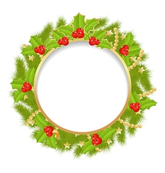 fir wreath 1 vector image