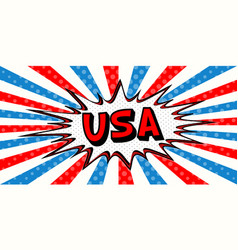 Flag banner of usa in the style of pop art comic vector