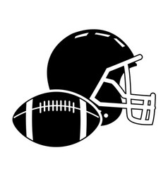 Football helmet ball sport equipment image vector