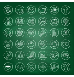 Hand drawn business set of buttons vector image